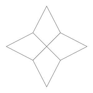 4-uddig stjärna, skärmall