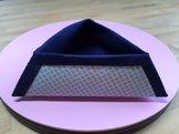 Trekantig skål, blå
