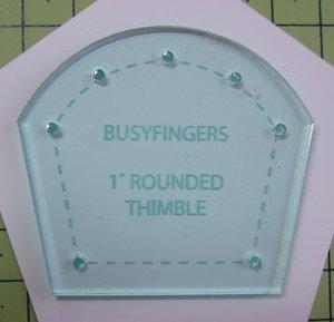 """1"""" Rundad fingerborg, skärmall"""