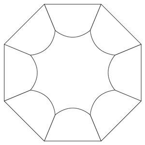 Inre uddkant till octagon, skärmall
