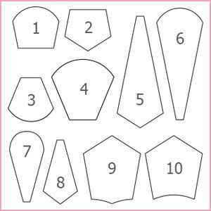"""4"""" Dresden med rundad kant, pappersmallar"""