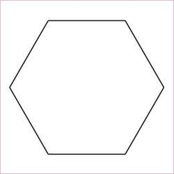 "7/8"" Hexagon, pappersmallar"
