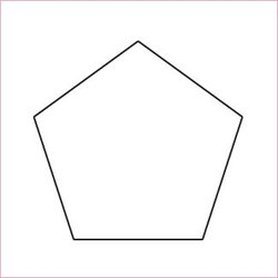 "Pentagon ½"", pappersmallar"
