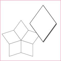 5-uddig stjärna, pappersmallar
