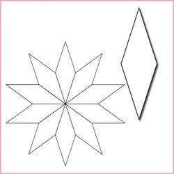 """10-uddig stjärna, 1 1/4"""", pappersmallar"""