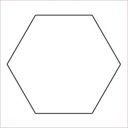 "3"" Hexagon, pappersmallar"
