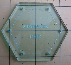 "1"" Hexagon, skärmall"