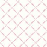 Vitt med rosa rutrosetter